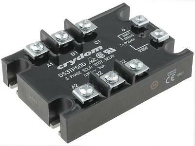 D53TP25D Relay solid state Ucntrl3÷32VDC 25A 48÷530VAC 3-phase CRYDOM