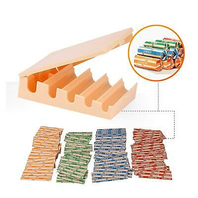 Coin Changers Tray Bundle of 100 Assorted Wrappers with 1 Compact Coin Sorter