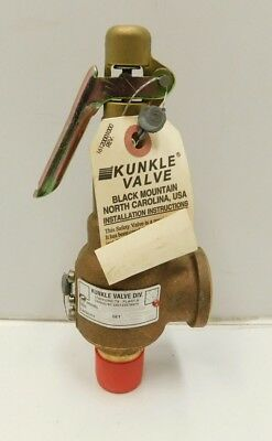 "NEW Kunkle 6021ED01-AM Safety Relief Valve 100 PSI 3/4""""  (C3-710)"