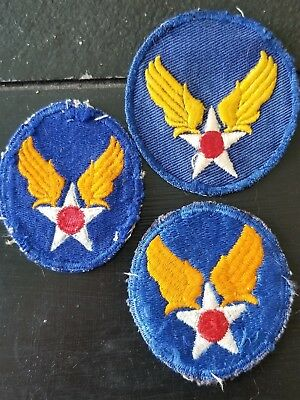WWII US AAC Air Corps Twill Army Patchot Set x3