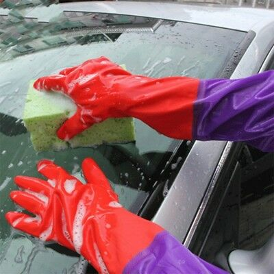 Gants de latex de lavage de voiture plus velours double, paire - 85979