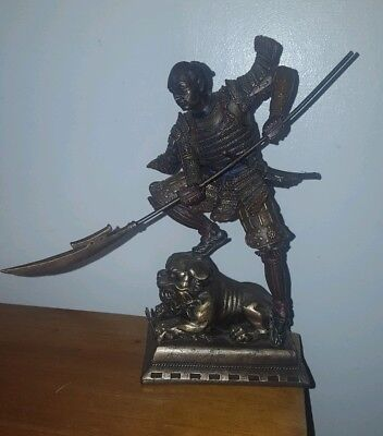 Japanese samurai warrior figurine