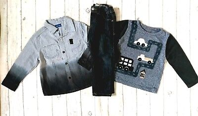 2 3 Years Next Long Sleeve Tops Jeans Shirt Boys Trendy Winter Clothes Bundle