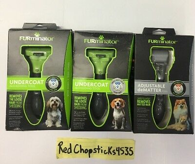 FURminator Adjustable dematter undercoat deshedding tool dog hair new s m l