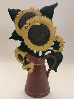 Vintage Cast Iron Door Stop - Sunflower's