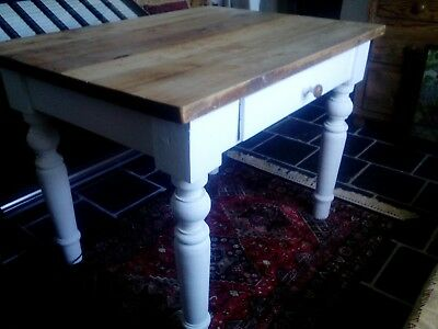 Rustic Victorian French? Cherry wood Farmhouse Table.