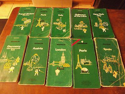 Michelin THE GREEN GUIDE TOURIST GUIDES LOT OF 10 FREE SHIPPING