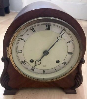 Vintage Wooden Mantle Clock ' An Elliot Clock' For Spares/Repairs