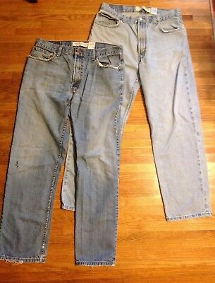Lot Of 2 Levis 550 505 Mens Jeans 36/32 Work Distressed Worn (R1G1)