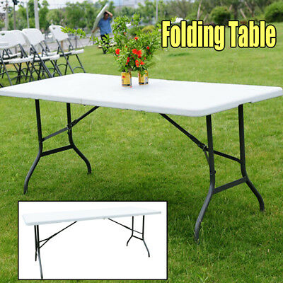 6' Folding Table Portable Indoor Outdoor Picnic Party Dining Camping Tables