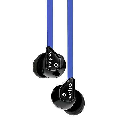 Veho Z-1 In-Ear Headphones Stereo Earbuds with Noise Isolation Anti-Tangle Cable