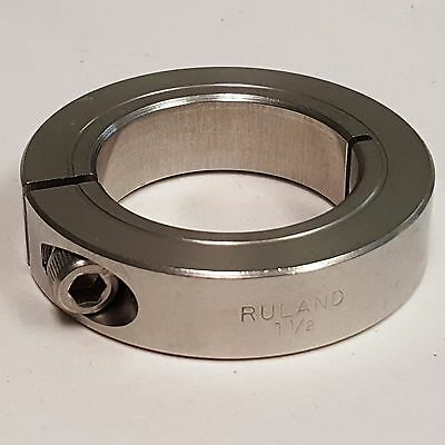 Ruland CL-24-SS Shaft Collar, 1Pc Clamp, 1 1/2 In. 303 Stainless Steel