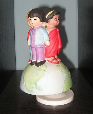 Michael Jackson USA for Africa musical figure Children We are the World ornament