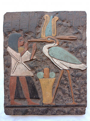 egyptian Antiques tutankhamun And Ibis Relif egyptian civilisation wall of Art