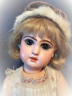 Antique Jumeau Depose Childlike Face ULTRA RARE UNIQUE Mechanical Sleep Eyes