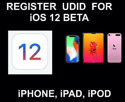 UDID Registration for iOS 12 Beta Update: iPhone, Pad, Pod: All Models: Read all