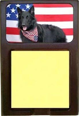 Belgian Sheepdog Wood Sticky Note Holder