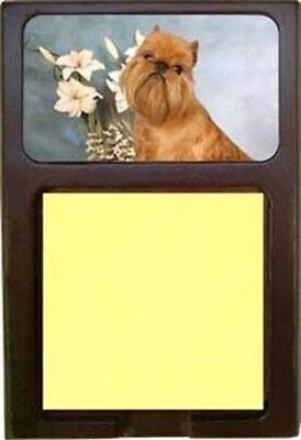 Brussels Griffon Wood Sticky Note Holder