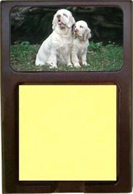 Clumber Spaniel Wood Sticky Note Holder