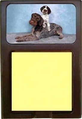 German Wirehair Pointer Wood Sticky Note Holder