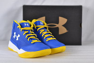 Youth Boy's Under Armour Jet 2017 Basketball Shoes Blue/Yellow