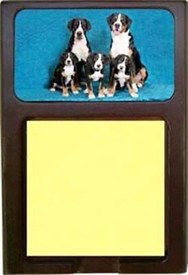 Greater Swiss Mountain Dog Wood Sticky Note Holder