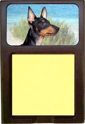 Manchester Terrier Wood Sticky Note Holder
