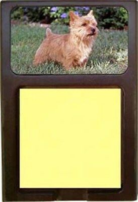 Norwich Terrier Wood Sticky Note Holder