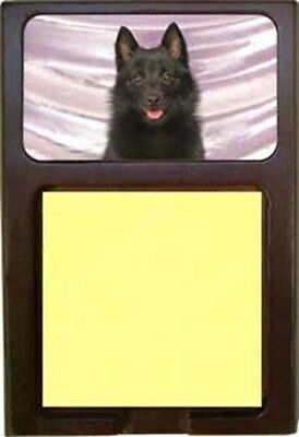 Schipperke Wood Sticky Note Holder