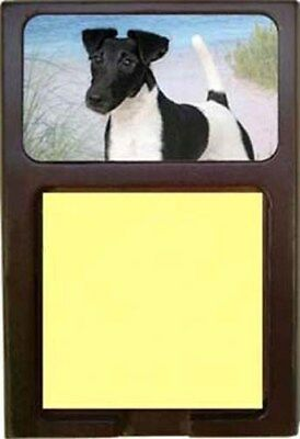 Smooth Fox Terrier Wood Sticky Note Holder