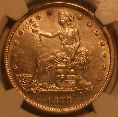 Attractive 1878 S Trade Dollar NGC AU Details; Improperly Cleaned
