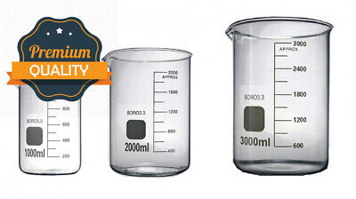Rocwing - Borosilicate 3.3 Glass Graduated Measuring Beaker (5ml, 2 in a pack)