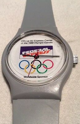 RARE VINTAGE FEDERAL EXPRESS FEDEX  Olympics WATCH