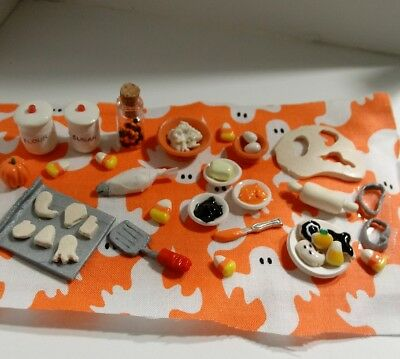 Dollhouse Miniature Halloween Cookie Board Dolls Sweets Cookies Holiday Fall