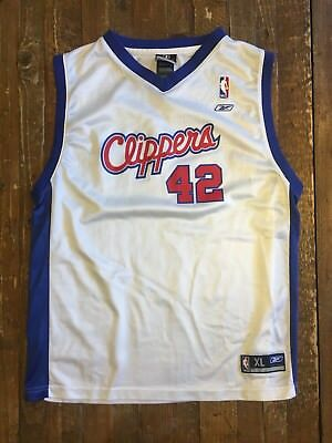 LOS ANGELES CLIPPERS Elton Brand white basketball Jersey  42 Reebok ... e8a2cd58a