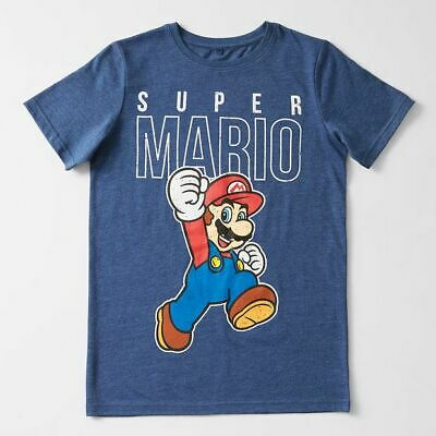 NEW Super Mario Logo Print T-Shirt Kids