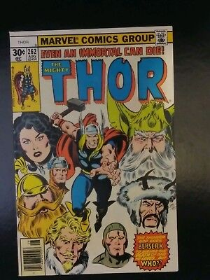 """The Mighty Thor #262 """"Even an Immortal Can Die!"""" Solid NM Condition!!"""