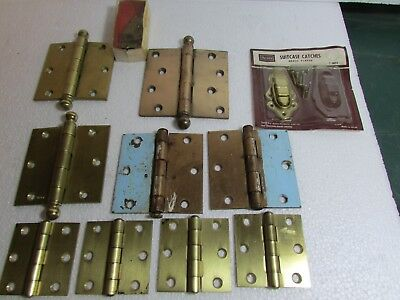 Vtg Brass Stanley Sweetheart Cannon Ball Hinges Suitcase CATCHES Sears lot t
