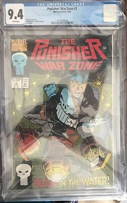 THE PUNISHER WAR ZONE #2 cgc 9.4 1992 Romita Jr.