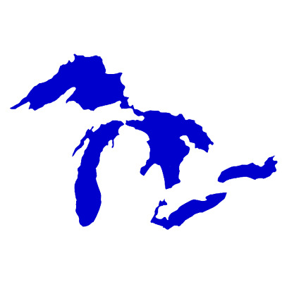 6 Inch GREAT LAKES MICHIGAN ERIE SUPERIOR HURON MIDWEST DECAL Sticker Truck Car
