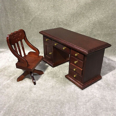 Terrific Mini 1 12 Scale Dollhouse Wood Furniture Study Office Desk Download Free Architecture Designs Scobabritishbridgeorg