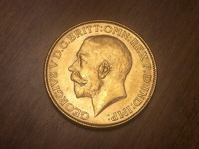 1918 I Sovereign India One Year Type Gold Coin  @@ Must See @@@lot a1