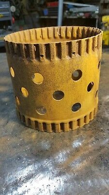 "GEAR MACHINE PART - 5"" x 5 1/4"" - STEAMPUNK INDUSTRIAL METAL ART lamp shade"
