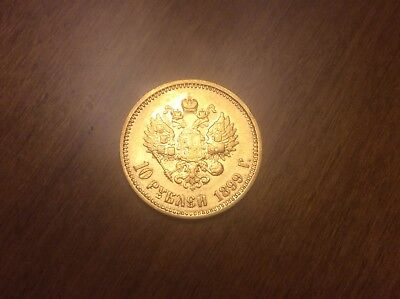 1899 Russian 10 Roubles Gold Coin @@ Must see @@ lot T4
