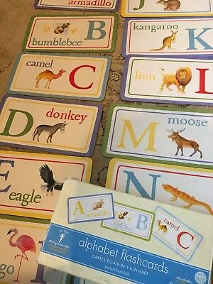 Vintage Pottery Barn Kids, Quality heavy duty flashcards,  Animals and Alphabet