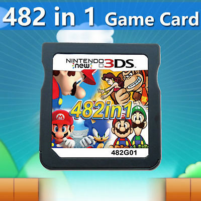482 in 1 Game Cartridge Mario Multicart for Nintendo DS NDSL NDSi 3DS 2DS