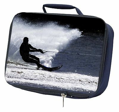 Water Skiing Sport Navy Insulated School Lunch Box Bag, SPO-W1LBN