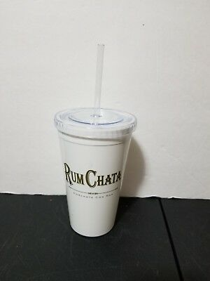 New Rum Chata Plastic Travel Tumbler With Straw