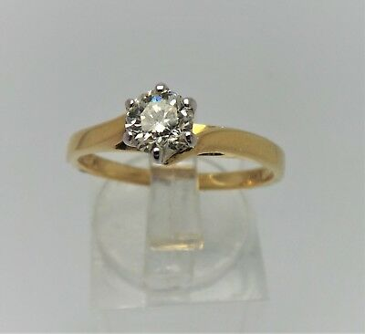 18ct YELLOW GOLD 1/2 DIAMOND SOLITAIRE RING - VALUED @$3479 COMES WITH VALUATION