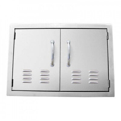 (Stainless Steel) - Double Door Flush Mount with Vents. Sunstone Grills